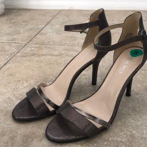 Nine West Metallic Strap Heels